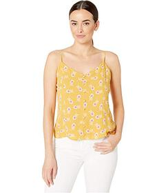 Vince Camuto Button Front Ditsy Floral Getaway Cam