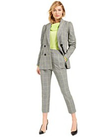 Becca Tilley x Powersuit Plaid Blazer, Sweater and