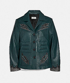 Coach stage craft leather jacket