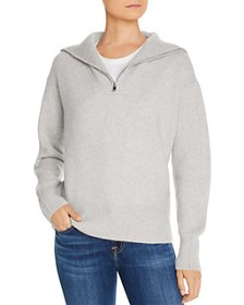 C by Bloomingdale's - Half-Zip Cashmere Sweater -