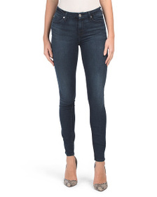 7 FOR ALL MANKIND Skinny Jeans With Squiggle Pocke