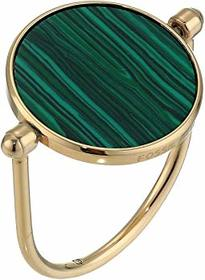 Fossil Engravables Ring Malachite Double Sided Rin