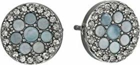 Fossil Mosaic & Glitz Stud Stainless Earrings