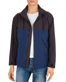 The Kooples - Impermeable Two-Tone Hooded Jacket