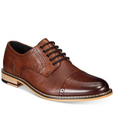 Men's Parker Leather Cap-Toe Brogues Created for M