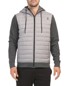 REEBOK Victory Hybrid Tech Fleece Jacket