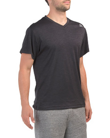 REEBOK Neptune V Neck Short Sleeve Top
