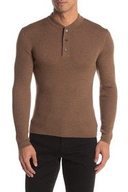 Theory Wool Ribbed Henley