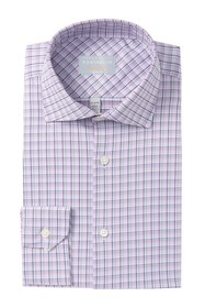 Perry Ellis Plaid Slim Fit Dress Shirt