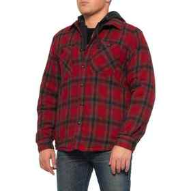 Coleman Red and Charcoal Flannel Shirt Jacket - In
