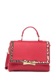 Betsey Johnson Printed Trim Satchel