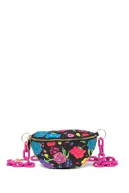 Betsey Johnson Floral Chain Belt Bag