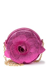 Betsey Johnson Glitter Rosette Crossbody Bag