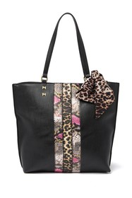 Betsey Johnson Mixed Animal Print Tote Bag