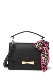 Betsey Johnson Satchel Bag With Scarf Tie
