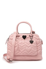 Betsey Johnson Lorraine Quilted Heart Satchel