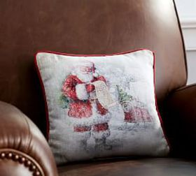 Pottery Barn Nostalgic Santa's List Pillow