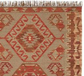 Pottery Barn Damen Synthetic Kilim Rug - Warm Mult