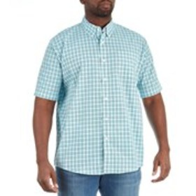 WRANGLER Mens Relaxed Fit Checked Button Down Shir