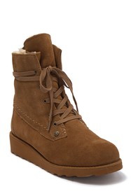 BEARPAW Krista Genuine Shearling Lined Lace-Up Boo