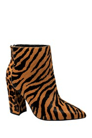 Charles David Micro Pointed Toe Leopard Tiger Bloc