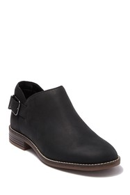 Clarks Camzin Buckle Strap Ankle Leather Bootie