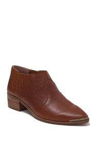 Lucky Brand Kalbah Leather Block Heel Ankle Boot