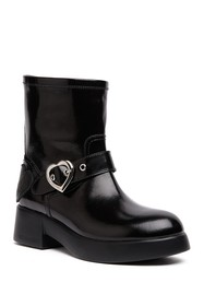 LOVE Moschino Faux Leather Combat Boot