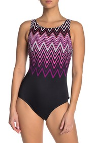 Reebok Cosmic Wave One-Piece Swimsuit