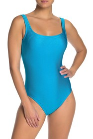 Reebok Sport Ribbed One-Piece Swimsuit