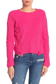Design History Lace-Up Pullover Sweater