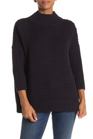 French Connection Mozart Mock Neck Popcorn Sweater