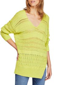 Free People Hot Tropics V-Neck Sweater