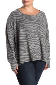 Cable & Gauge Hacci Knit Thumbhole Sleeve Pullover