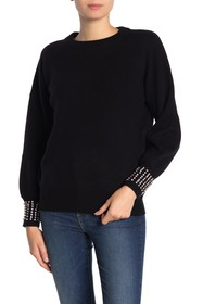 THE CASHMERE PROJECT Embellished Balloon Sleeve Ca