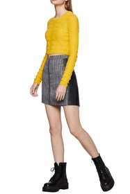 BCBGeneration Textured Crop Sweater