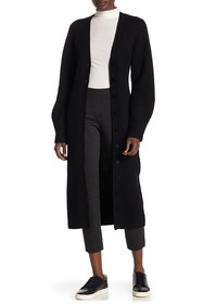 Theory Sculpted Long Sleeve Wool Cardigan