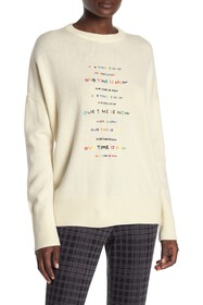 Theory All Over Front Embroidered Pullover Sweater