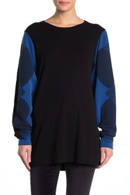 WOLFORD Trinity Contrast Sleeve Knit Pullover Swea