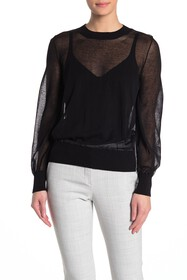 WOLFORD Light Shadow Sheer Pullover Sweater