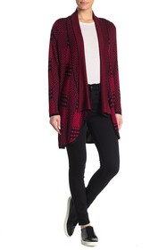 JOSEPH A Houndstooth Patchwork Waterfall Cardigan