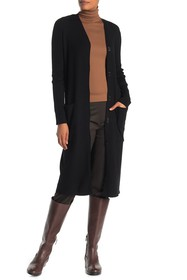 Lafayette 148 New York Wool Blend Ribbed Long Card