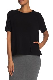 Go Couture Elbow Sleeve Knit Pullover