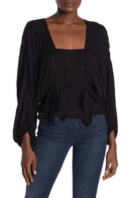 Parker Puff Sleeve Square Neck Woven Top
