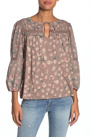 Lucky Brand Crochet Lace Floral Top