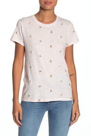 Lucky Brand Embroidered Bee T-Shirt