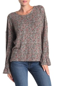 Lucky Brand Floral Print Soft Knit Top