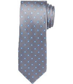 Jos Bank Traveler Collection Square Dot Tie CLEARA