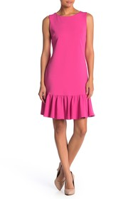 Betsey Johnson Ruffled Hem Scuba Crepe Dress