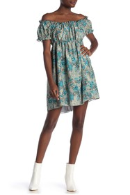 Anna Sui Off-The-Shoulder Babydoll Dress